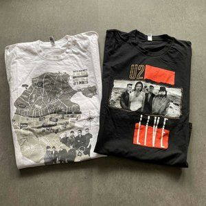 Lot of 2 American apparel U2 band T-shirt Tee Top